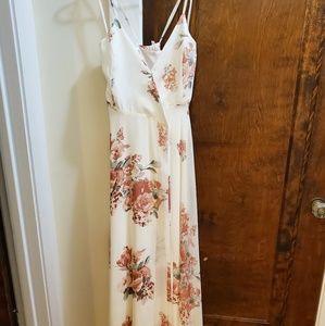 Lulu's Floral Maxi Wrap Dress